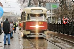 Moscow Tram holiday 2016 Stock Image