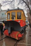 Moscow Tram holiday 2016 Royalty Free Stock Photography