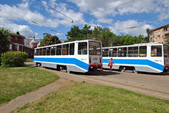 Moscow trams Royalty Free Stock Images