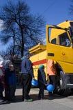 Moscow tramway parade - 2017 royalty free stock photos