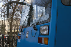 Moscow tramway parade - 2017 stock photos