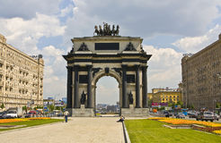 Moscow, Triumphal arch Stock Image