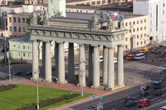 Moscow Triumphal Gate Stock Photos