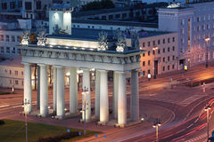 Moscow Triumphal Gate Stock Photography