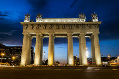 Moscow triumphal gates in Moscow Avenue in St. Petersburg Stock Image