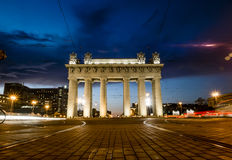 Moscow triumphal gates in Moscow Avenue in St. Petersburg Royalty Free Stock Photo
