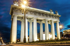Moscow triumphal gates in Moscow Avenue in St. Petersburg Stock Photography