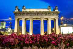 Moscow triumphal gates in Moscow Avenue in St. Petersburg Stock Photo