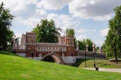 MOSCOW, TSARITSINO. Fancy bridge.Tsaritsino park . Moscow, Russia Royalty Free Stock Photo