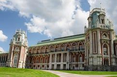 MOSCOW, TSARITSINO. Palace of queen Ekaterina Second Great in Tsaritsino, Moscow, Russia Stock Photo