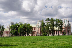 MOSCOW, TSARITSINO. Palace of queen Ekaterina Second Great in Tsaritsino, Moscow, Russia Stock Image