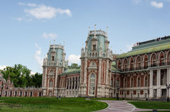 MOSCOW, TSARITSINO. Palace of queen Ekaterina Second Great in Tsaritsino, Moscow, Russia Royalty Free Stock Image