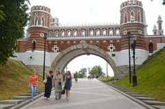 Moscow  Tsaritsyno  Figured bridge  1776-1778  Architect Bazhenov Royalty Free Stock Photography
