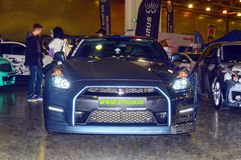 Moscow Tuning Show 2015. Nissan GTR Royalty Free Stock Images