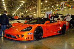 Moscow Tuning Show 2015. Orange Saleen Royalty Free Stock Images