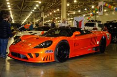 Moscow Tuning Show 2015. Orange Saleen Stock Images