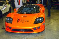 Moscow Tuning Show 2015. Orange Saleen Stock Photo