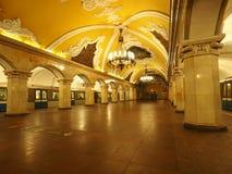 Moscow tunnelbana Arkivfoton