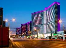 moscow Uma das ruas centrais no amanhecer Imagens de Stock