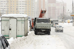 Moscow under snow. Looking on the new moscower district Stock Photography