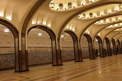 Moscow underground station Royalty Free Stock Photo