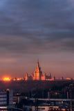 moscow Universitetar av Moscow Royaltyfria Foton