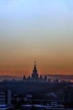 moscow Universitetar av Moscow Royaltyfria Bilder