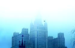 Moscow University in mist Royalty Free Stock Photography