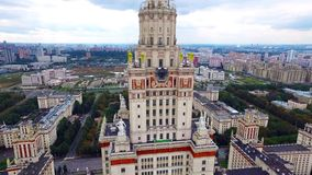 Moscow University at Sparrow Hills. stock video footage