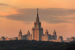 Moscow university. Stalin house. Royalty Free Stock Image