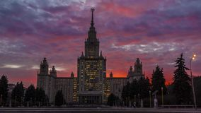 Moscow University. Timelapse stock video
