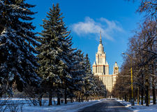 Moscow University tower in winter Stock Photos