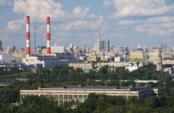Moscow urban panoramic view Stock Photo