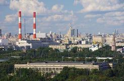 Moscow urban panoramic view Stock Photo