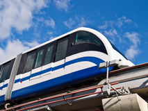 The Moscow urban transportation. The Moscow city public transport monorail railway Stock Photos