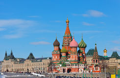 Moscow, Vasily Blazhenogo's temple Stock Photography