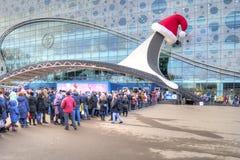moscow VDNKh Kolejka dla biletów w Moskvarium Obrazy Stock