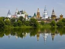 Moscow, vernisage Izmaylovo. Moscow, tourist landmark vernisage Izmaylovo - wooden architecture Stock Photo