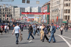 Moscow, Victory day Stock Images