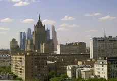 Moscow. View from a belfry of the Cathedral of Christ the Saviour Stock Photography