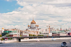 Moscow. View of the Cathedral of Christ the Savior Stock Image