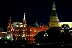 Moscow view of the historical museum royalty free stock images
