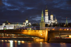 Moscow view at night Stock Image
