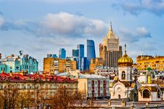 Free Moscow View. Old And New Buildings Stock Image - 126137961