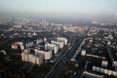 Moscow view from Ostankino tower Stock Images