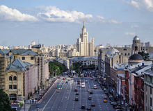 Moscow, view from a rood Stock Photos