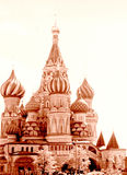 Moscow view of Saint Basil Cathedral 1962 Royalty Free Stock Images