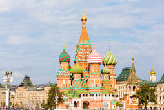 Moscow view with Saint Basil`s Cathedral Royalty Free Stock Photo