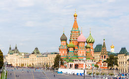 Moscow view with Saint Basil`s Cathedral Stock Image