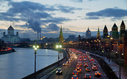 Moscow view at sunset Royalty Free Stock Photography